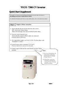 TECO 7300 CV Inverter