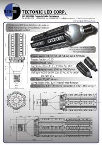TECTONIC LED CORP. TECTONIC