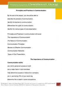 TeechConsult MY TeechConsult MY Principles and Practices in Communication The Importance of Communication Communication skills: TO CITE (APA 6th)