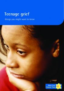 Teenage grief. things you might want to know