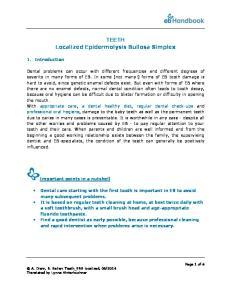 TEETH Localized Epidermolysis Bullosa Simplex
