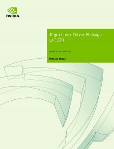 Tegra Linux Driver Package L4T.ER1