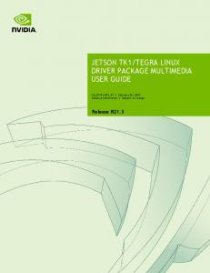TEGRA LINUX DRIVER PACKAGE MULTIMEDIA USER GUIDE