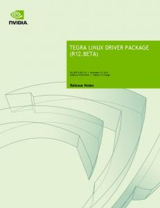 TEGRA LINUX DRIVER PACKAGE (R12.BETA)