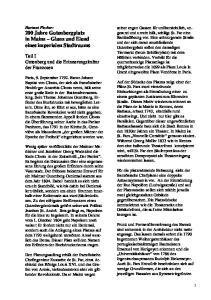 Teil I Gutenberg und die Erinnerungskultur der Franzosen