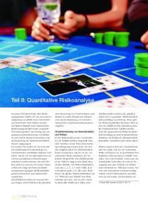 Teil II: Quantitative Risikoanalyse