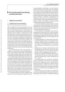 Teil II Systematische Darstellung und Besonderheiten