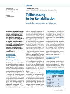 Teilbelastung in der Rehabilitation