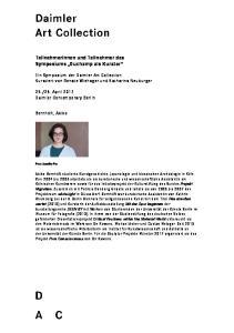 Teilnehmerinnen und Teilnehmer des Symposiums Duchamp als Kurator