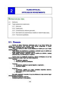 TEJIDO EPITELIAL. EPITELIOS DE REVESTIMIENTO