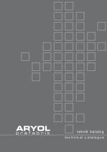 teknik katalog technical catalogue