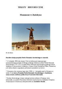 TEKSTY HISTORYCZNE. Monument w Jindabyne