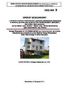 Tel.(046) , kom. (0601) ; REGON NIP OPERAT SZACUNKOWY