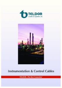 Teldor Instrumentation, Signal & Control Cable Catalogue. Table of contents