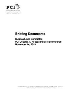 Teleconference November 14, 2013