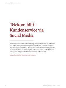 Telekom hilft Kundenservice via Social Media