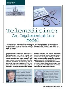 Telemedicine: An Implementation Model