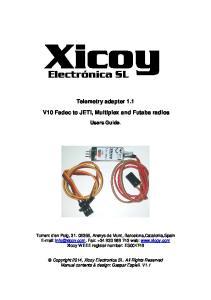 Telemetry adapter 1.1 V10 Fadec to JETI, Multiplex and Futaba radios