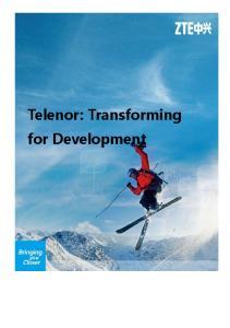 Telenor: Transforming for Development