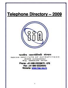 Telephone Directory Phone: Fax: Website:
