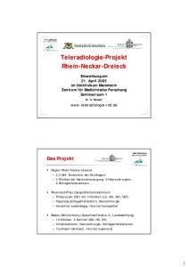 Teleradiologie-Projekt Rhein-Neckar. Neckar-Dreieck