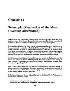 Telescopic Observation of the Moon (Evening Observation)
