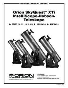 Teleskope. Bedienungsanleitung. Nr XT6i, Nr XT8i, Nr XT10i, Nr XT12i