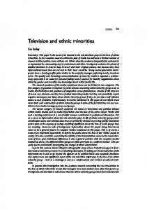 Television and ethnic minorities