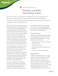 Television and Radio Transmitting Towers