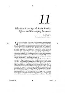 Television Viewing and Social Reality