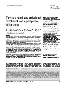 Telomere length and periodontal attachment loss: a prospective cohort study