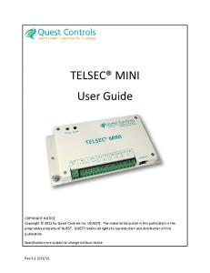TELSEC MINI User Guide