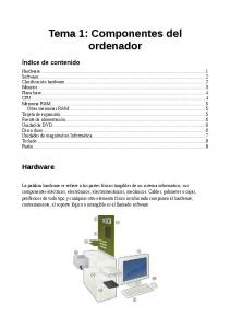 Tema 1: Componentes del ordenador