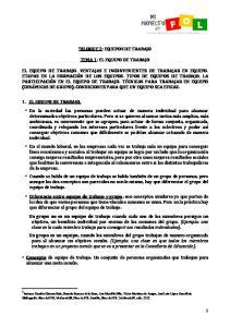 TEMA 1: EL EQUIPO DE TRABAJO