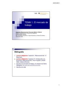 TEMA 1. El mercado de trabajo