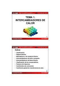 TEMA 1. INTERCAMBIADORES DE CALOR