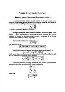 Tema 1. Leyes de Newton