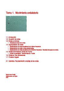 Tema 1. Movimiento ondulatorio