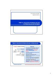 TEMA 10. CICLOS DE POTENCIA DE GAS Y OTROS CICLOS DE POTENCIA