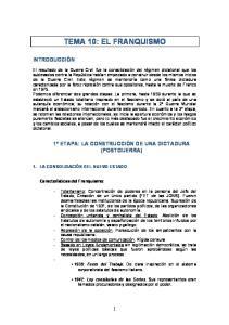 TEMA 10: EL FRANQUISMO
