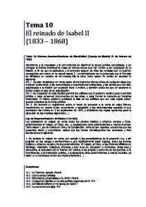 Tema 10 El reinado de Isabel II ( )