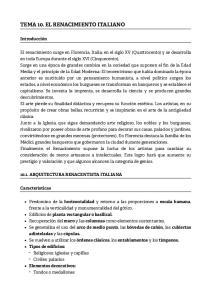 TEMA 10. EL RENACIMIENTO ITALIANO