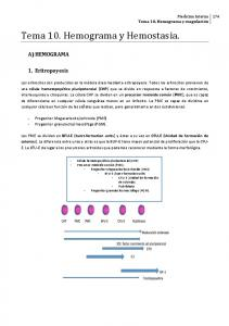 Tema 10. Hemograma y Hemostasia