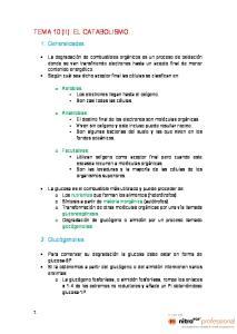 TEMA 10 (II). EL CATABOLISMO