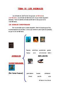 TEMA 10.-LOS ANIMALES