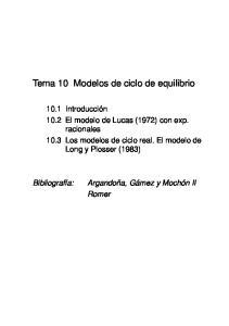 Tema 10 Modelos de ciclo de equilibrio