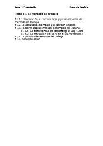 Tema 11. El mercado de trabajo