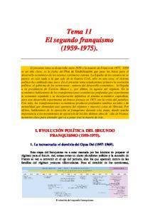 Tema 11 El segundo franquismo ( )