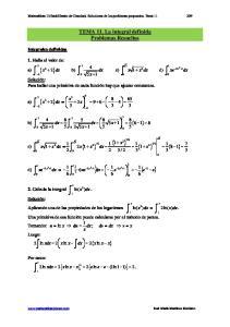 TEMA 11. La integral definida Problemas Resueltos