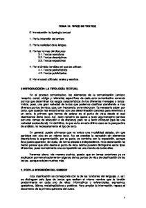 TEMA 12: TIPOS DE TEXTOS